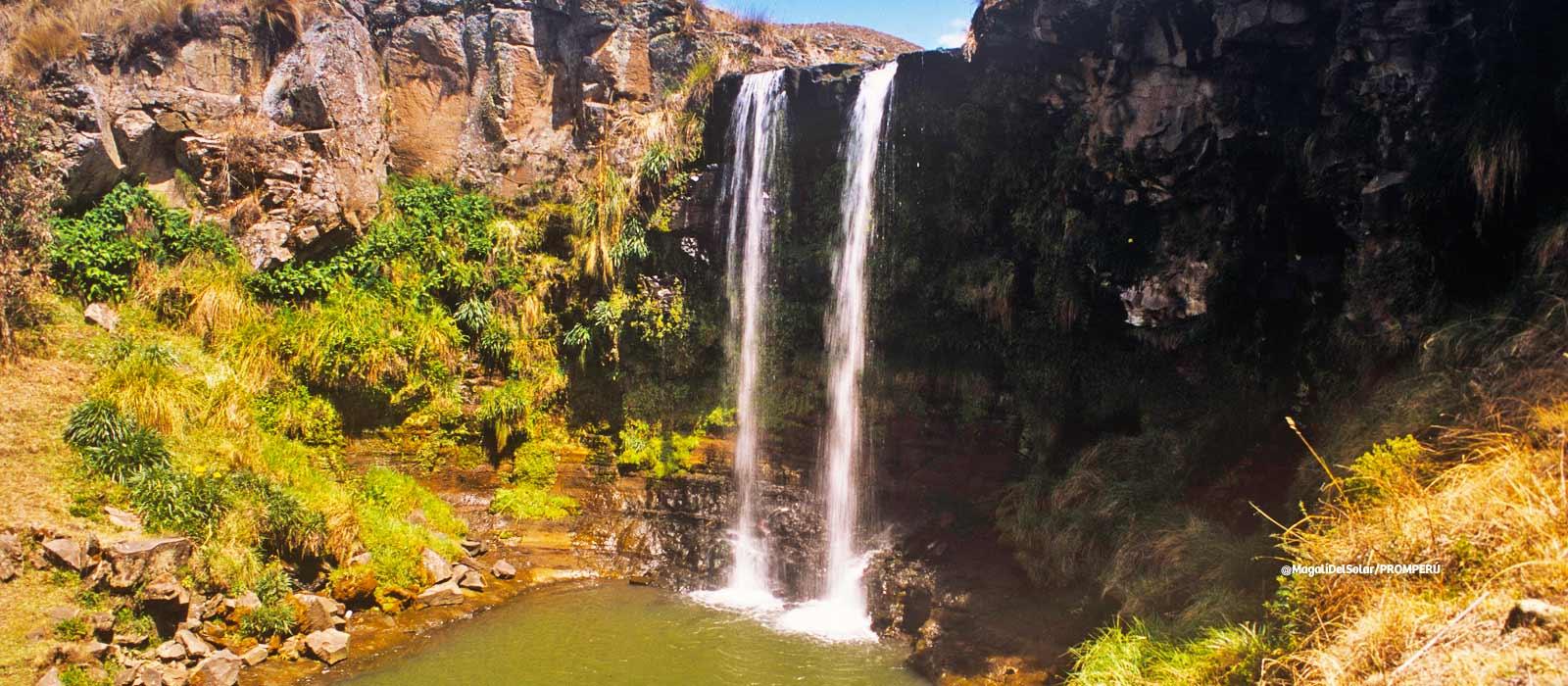 Cataratas míticas de Pumapaqcha, Batán y Qorimaqma en Ayacucho