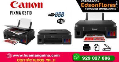 IMPRESORA MULTIFUNCIONAL CANON G3110, IMPRIME, COPIA, ESCANEA, WIFI