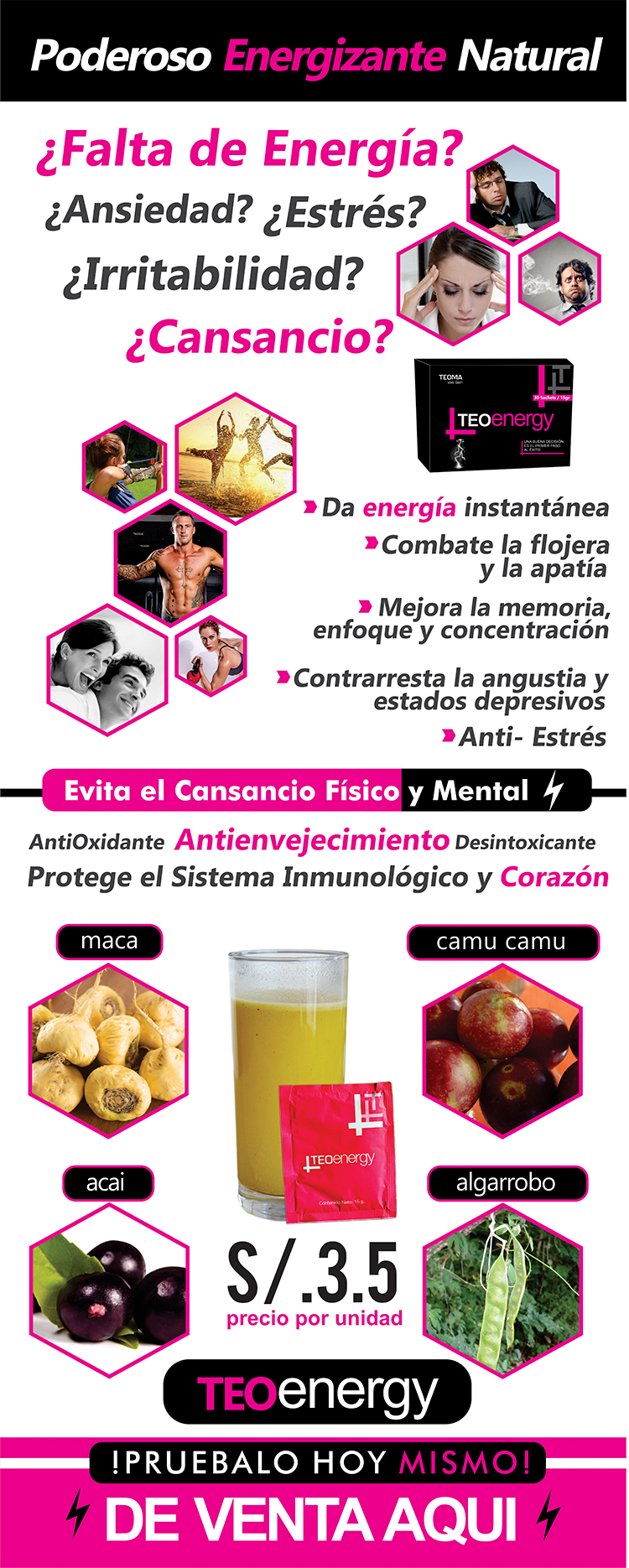 Vitaminas Teoma TEOenergy Frasco