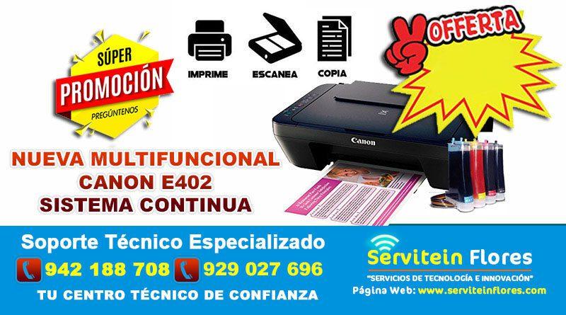 Impresora Canon E402 con Sistema Ayacucho Huanta Surquillo