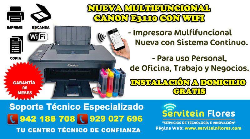 Impresora Multifuncional Wifi E3110 Huamanga Ayacucho