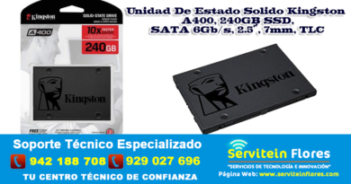 Estado Solido Kingston A400 240GB SSD AYACUCHO HUANTA PERÚ