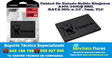 Estado Solido Kingston A400 240GB SSD AYACUCHO HUANTA PERÚ