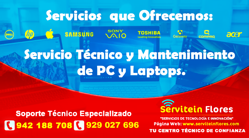 Servicio de Soporte Informatico Ayacucho Windows Perú