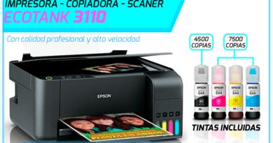 Impresora EPSON L3110 Ecotank Ayacucho