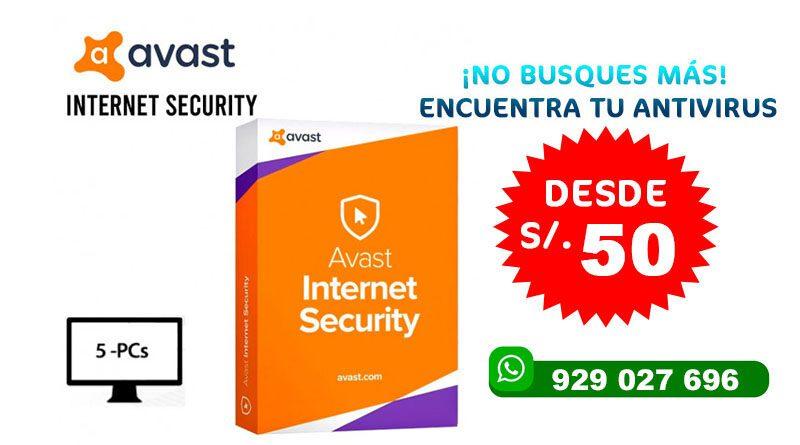 ANTIVIRUS AVAST Premium Security 2020
