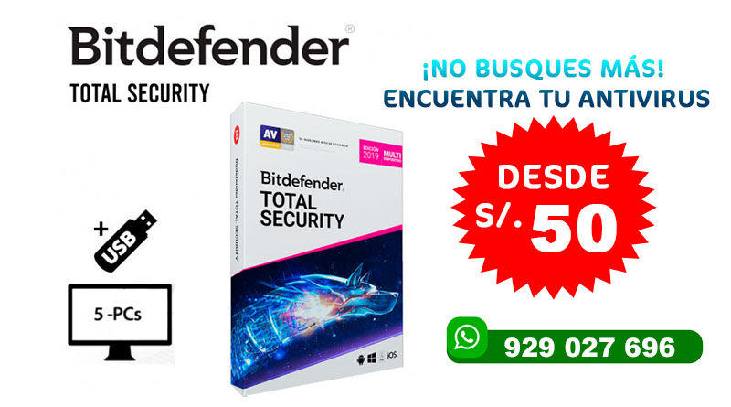 ANTIVIRUS BITDEFENDER TOTAL SECURITY