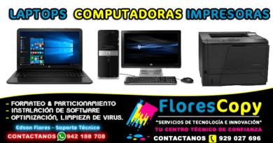 Equipos Computadora Laptop Impresora Flores Copy