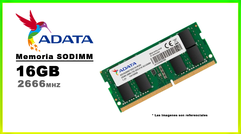 MEMORIA SODIMM DDR4 16GB 2666 ADATA