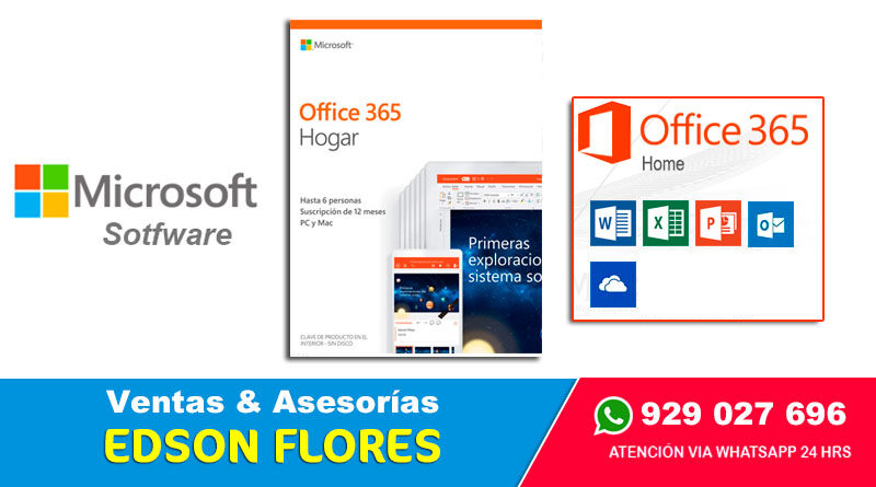 MICROSOFT OFFICE 365 Home 6 para Usuarios Ayacucho Surquillo