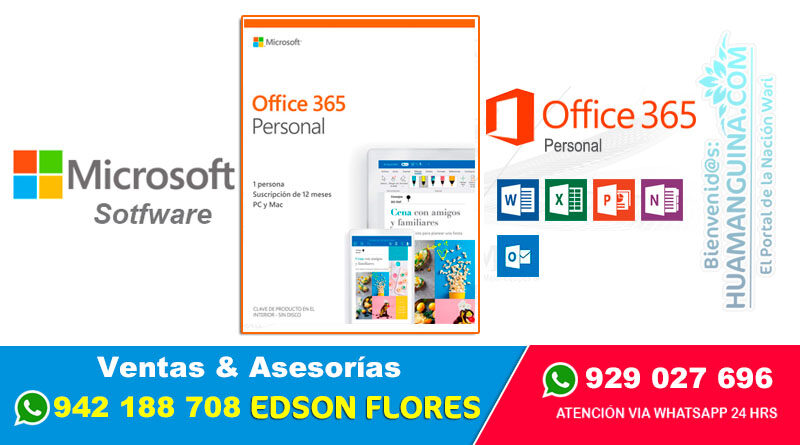 MICROSOFT OFFICE 365 Personal Ayacucho Surquillo
