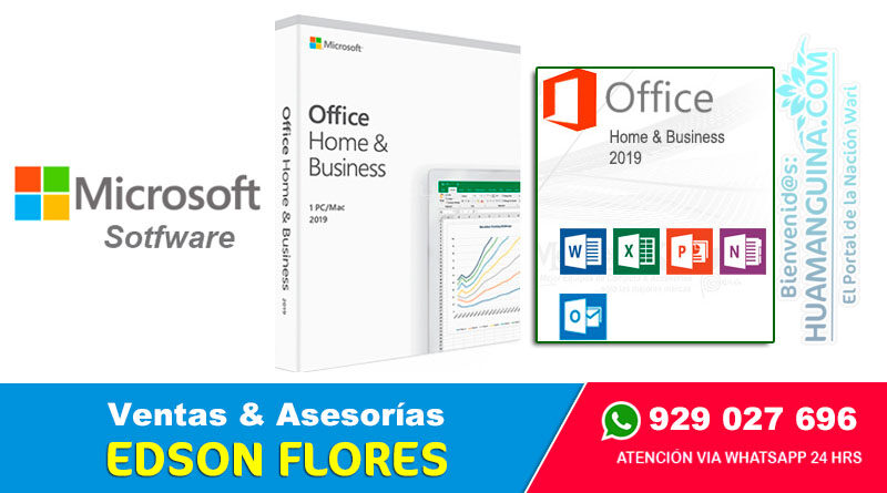 MICROSOFT OFFICE Home & Business ESD 2019 1PC AYACUCHO SURQUILLO