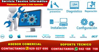 Soporte Técnico computadoras en Ayacucho
