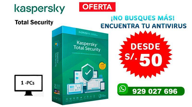 ANTIVIRUS KASPERSKY TOTAL SECURITY 2020